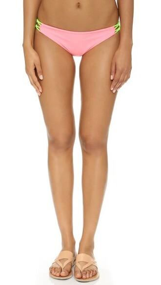 bikini bikini bottoms pink swimwear