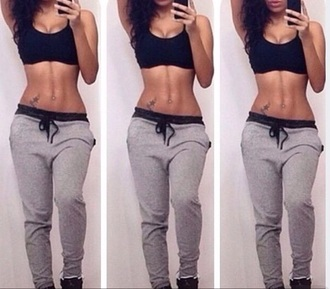 pants red lime sunday joggers sweatpants crop tops black crop top tank top tank top.  crop top yoga pants fitness leggings