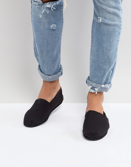 TOMS Classic Canvas Espadrilles In All Black at asos.com