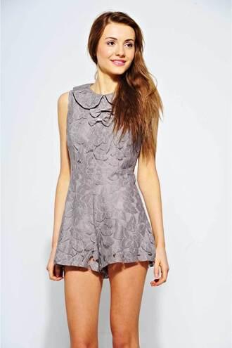 belle dress romper peterpan collar ladies lace