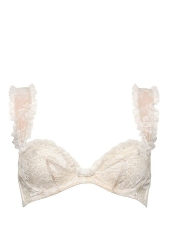 bra lace white underwear