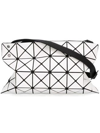 women plastic bag crossbody bag white