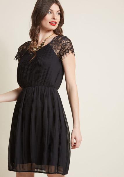 dress pleated dress pleated lace black