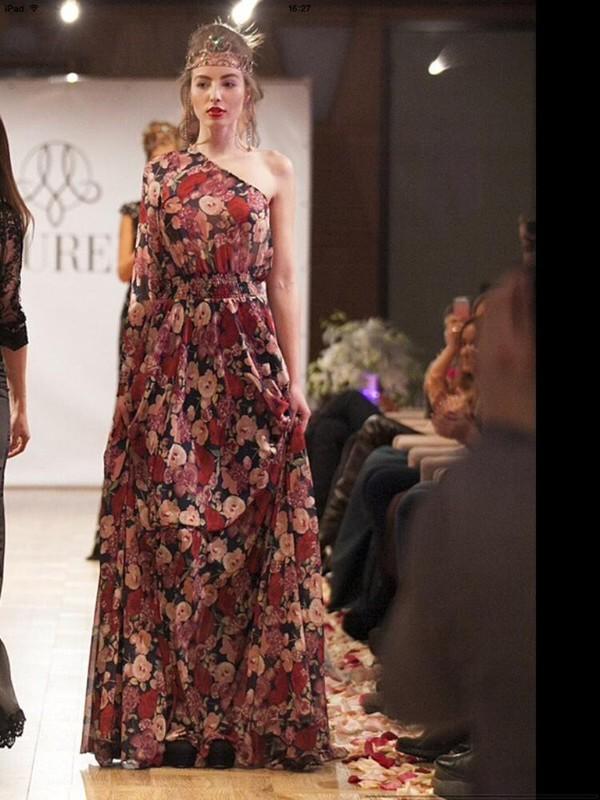 maxi dress roses