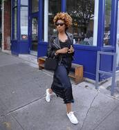 jacket,dress,shoes,converse,black jacket,leather jacket,bag,sunglasses