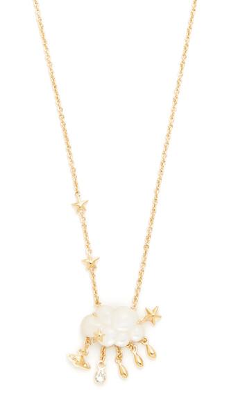 necklace pendant white jewels