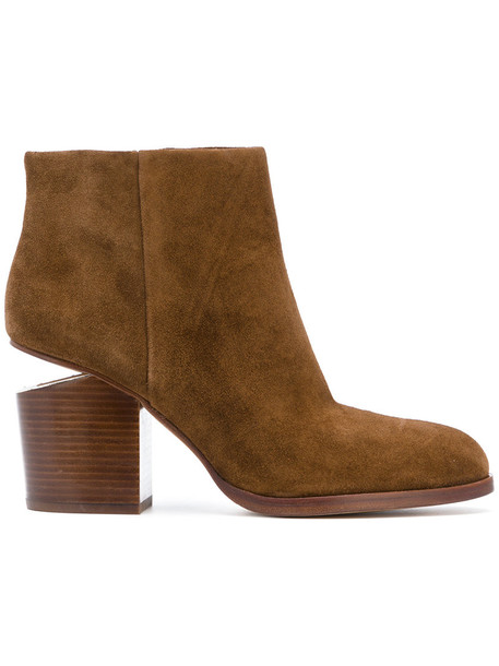 Alexander Wang women boots ankle boots leather suede brown shoes