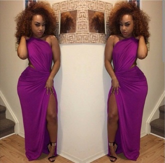 dress greek goddess purple dress one shoulder