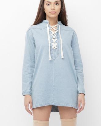 dress tunic dress denim denim dress blue blue dress lace up lace up dress