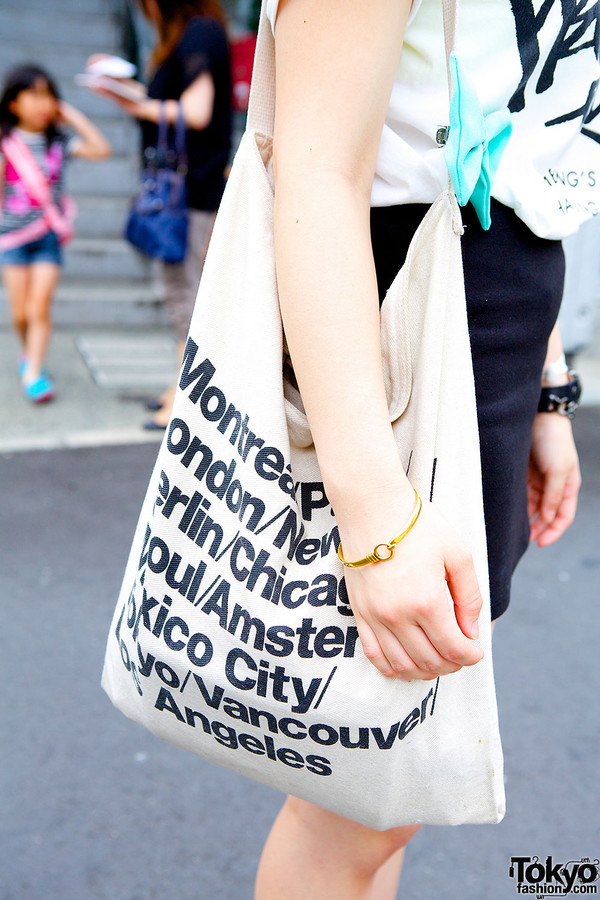 Cities Name Tote Bag Paris Bag New York Bag by AandADesignsss
