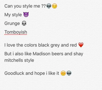 jacket madison beer ripped jeans black red grey sweater dress shoes grunge t-shirt grunge heels blue lace up style me tomboy