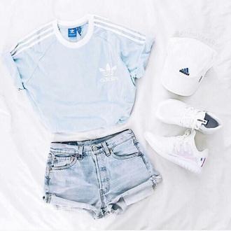 shirt adidas blue