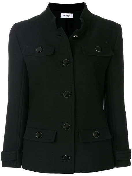 COURRÈGES jacket down jacket women spandex black wool