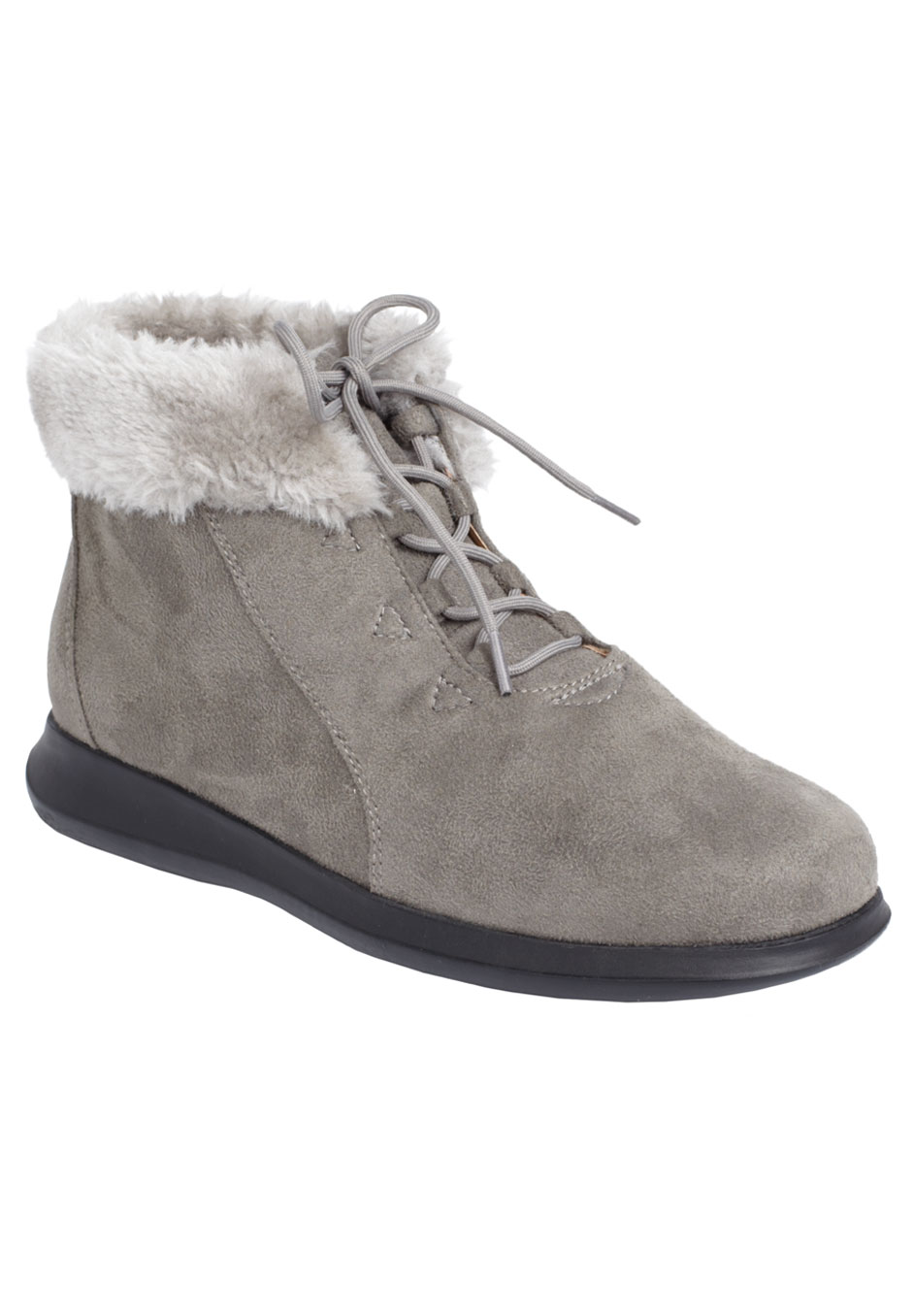 Plus size evergreen fur trim bootie by comfortview®