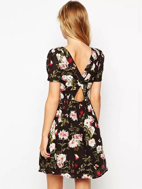 dress 2015 dress new dress backless backless dress floral dress floral