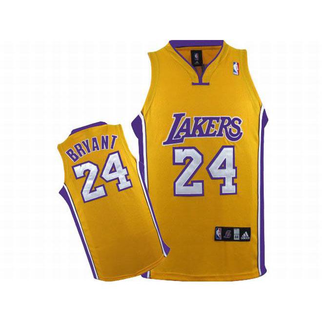 NBA Lakers Kobe Bryant #24 Yellow Jersey Purple White