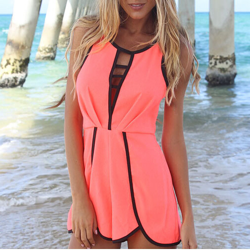 Aliexpress.com : buy 2014 free shipping female fashion color cut out playsuit jumpsuits k99 from reliable jumpsuit black suppliers on coollife