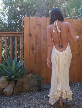 dress backless dress