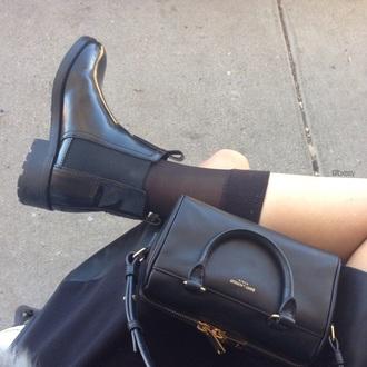 shoes black shoes black socks long socks