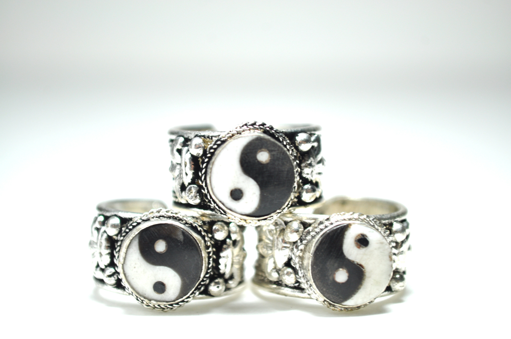 Yin Yang Amulet Ring