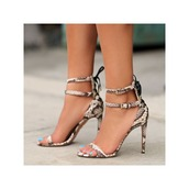 shoes,serpentine,snake,snake print,snake skin,snake shoes,trendy,cute,hot,sexy,amazing,cool,sexy shoes,fashion,fashionista,love,lovely,pretty,ankle strap heels,ankle strap,open toes,fabulous,heels,high heels,girly,strappy heels,strappy