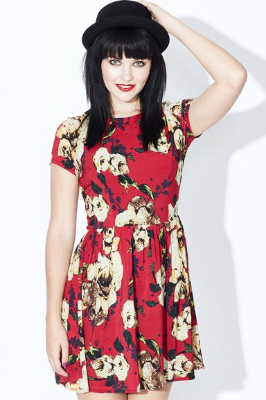 PW13 Missy Dress - Red - Poppy Lux