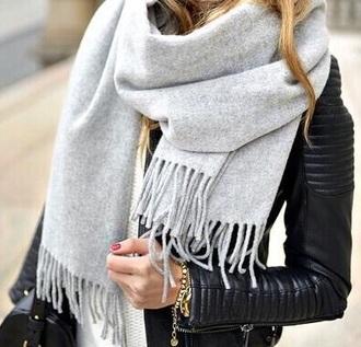 scarf grey cute accessory