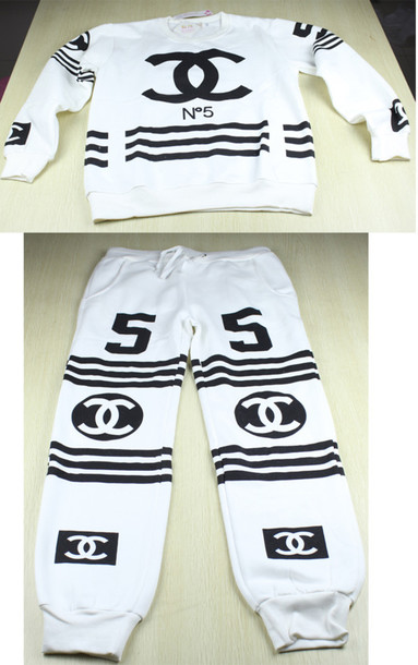 Sweater Joggers Sweatsuits Chanel Chanel Tracksuit Chanel