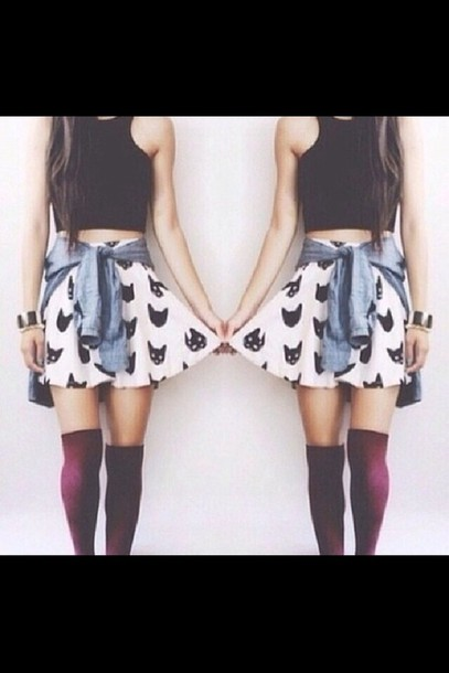 creative knee high socks outfits tumblr girls