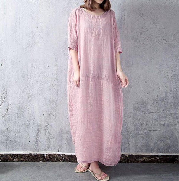 dress oversize long dress