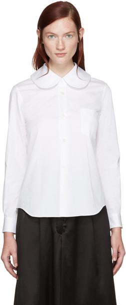 Comme Des Garçons White Big Collar Shirt
