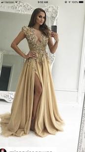 dress,sherri hill,gold
