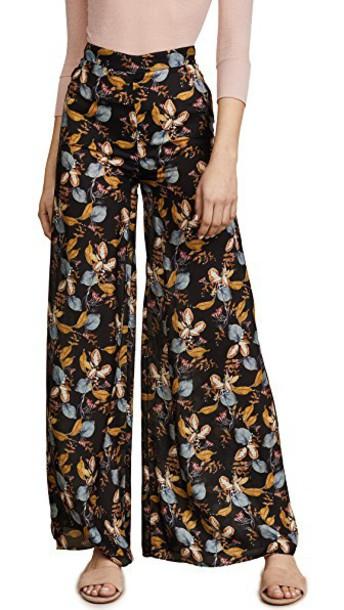 Nicholas pants palazzo pants floral black