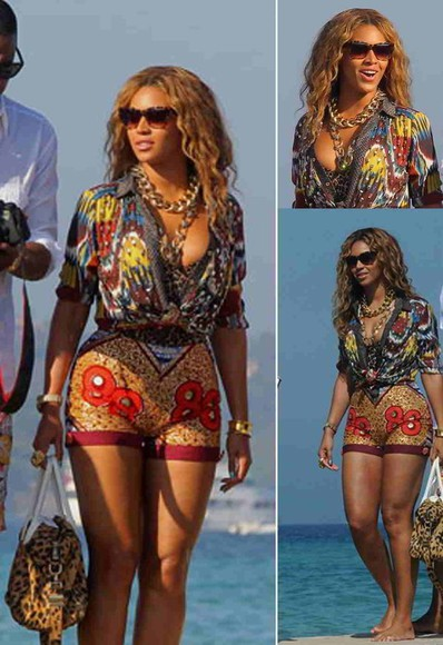 shorts jewels bag blouse beyonce