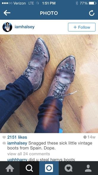 shoes halsey boots halsey brogues boots vintage vintage boots