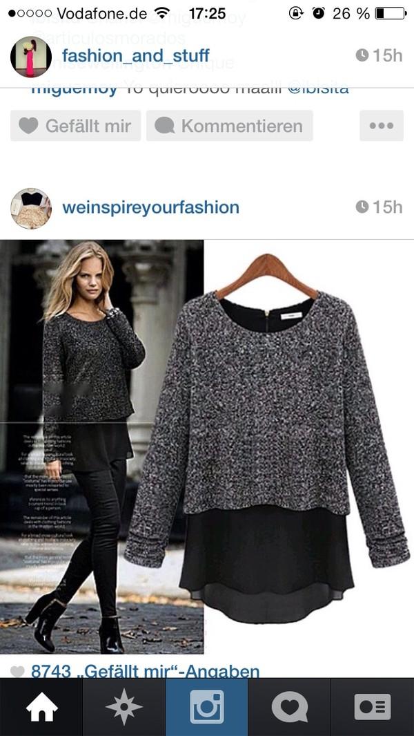 sweater grey sweater glitter