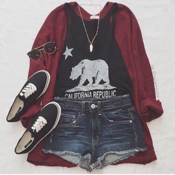 California Black Girl Fashion: Top, Black, Bear, White, Canadian, Republic, Tumblr