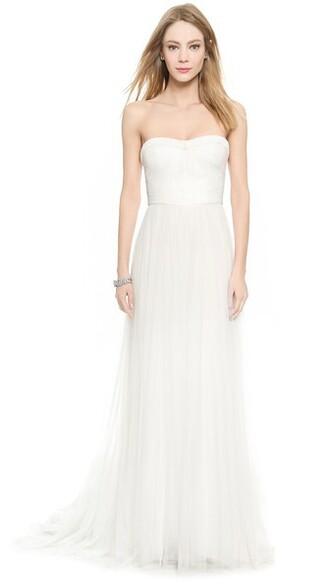 gown white silk dress