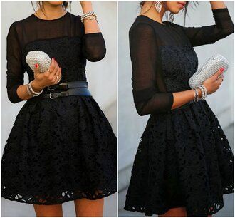 dress lace black short midi black dress midi dress crochet mech