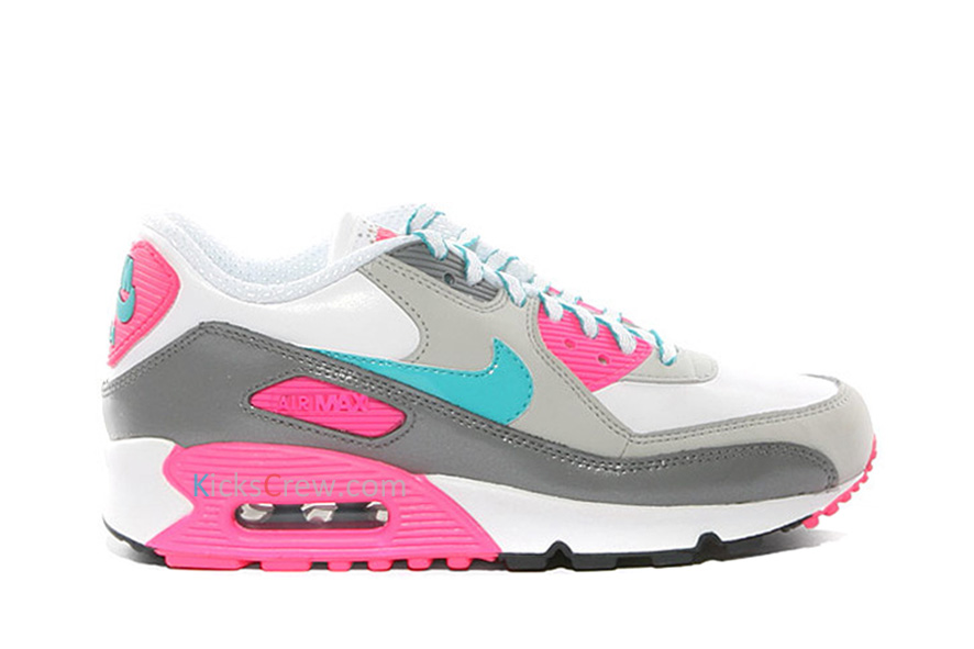 Nike Air Max 90 Laser Pink Blue Gray And White Nike Air Max 90 gg White Laser