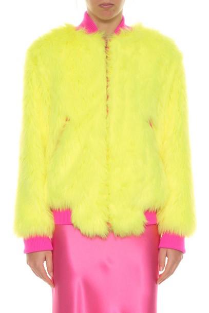 Alberta Ferretti jacket bomber jacket fur faux fur