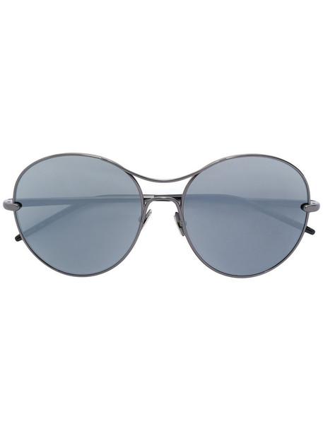 Pomellato - round frame sunglasses - women - Acetate/metal - 57, Black, Acetate/metal