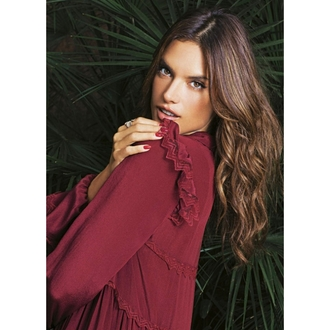 dress burgundy burgundy dress alessandra ambrosio editorial