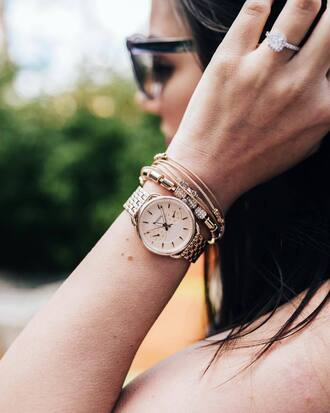 jewels tumblr accessories accessory gold watch watch bracelets gold bracelet jewelry gold jewelry