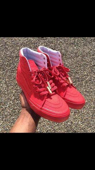 shoes red sneakers sneakers red vans