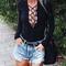 Sexy deep v-neck bandage bodysuit | womens bodysuit blouse