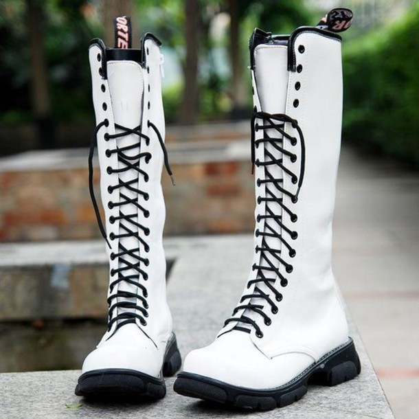 boots, white boots, black boots with