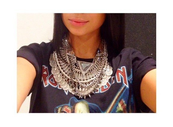 jewels necklace silver jewelry fashion clothes silver jewels silver necklace sarah gomes trendy