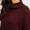 Red high neck ripped dip hem sweater -shein(sheinside)