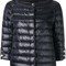 Herno - cropped sleeves padded jacket - women - polyamide - 46, black, polyamide